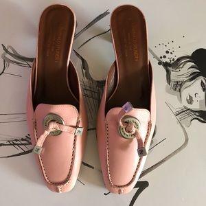 Donald J Pliner Dusty Pink slides heels size 8.5